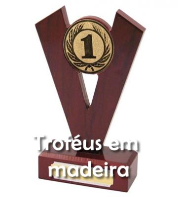 TROFÉUS EM MADEIRA
