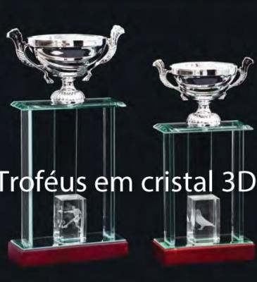 TROFÉUS EM CRISTAL 3D